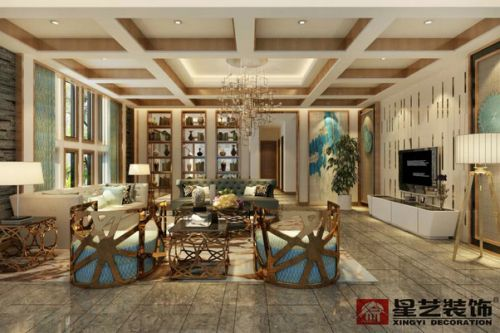 保利公园三千郡别墅装修600平现代简约风格设计案例!
