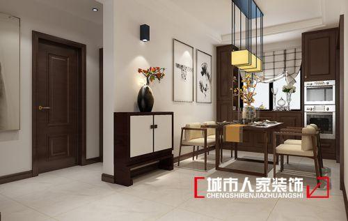 烟台城市人家装饰中海国际社区115平新中式风格