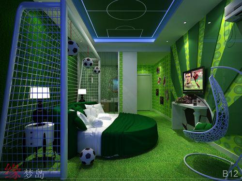 主题酒店设计-足球主题房设计