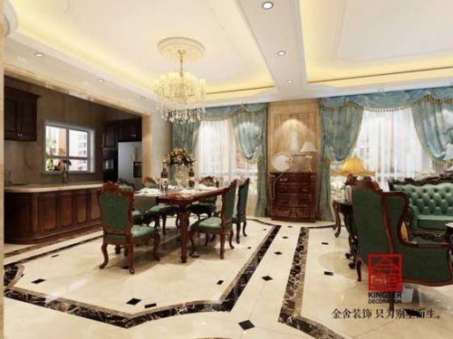 石家庄市阿尔卡迪亚荣盛城165㎡美式风格案例赏析