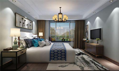 中海国际社区179平新中式风格装修效果图,木质感