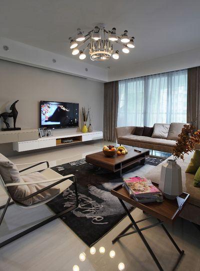 兴庆雅居2室2厅120平米现代风格