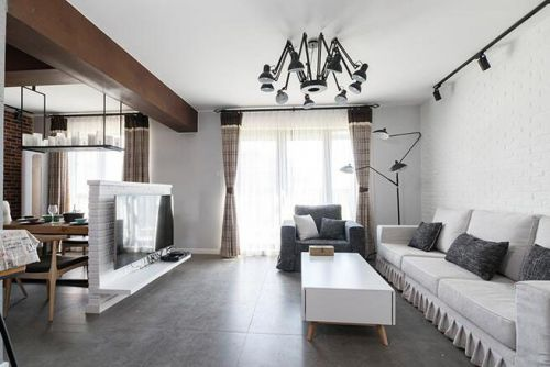 端里门1室2厅120平米混搭风格