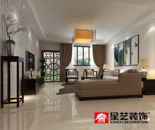 贵阳中铁逸都F区顶楼复式新中式风格设计!