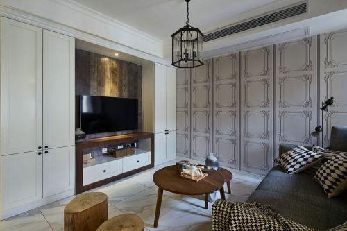华远海蓝城3室2厅105平米混搭风格