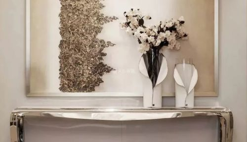 棕榈泉大平层户型两套打通现代轻奢风格装修设计