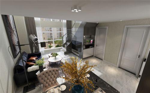 乐梦中心LFOT现代风格装修效果图,单身公寓