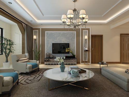 山西紫苹果装饰复地东山国际208平米装修案例展示