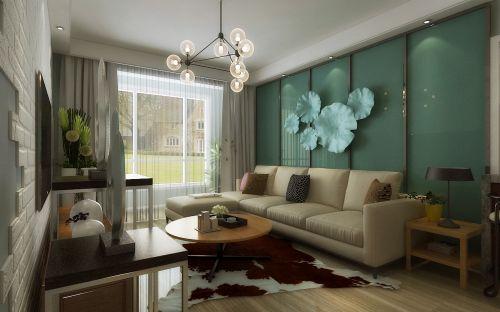呼和浩特城市人家家装设计美佳花园100平米的简约美式风格