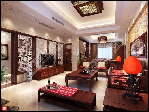 美的国宾府洋房复式装修,现代中式风格方案欣赏!