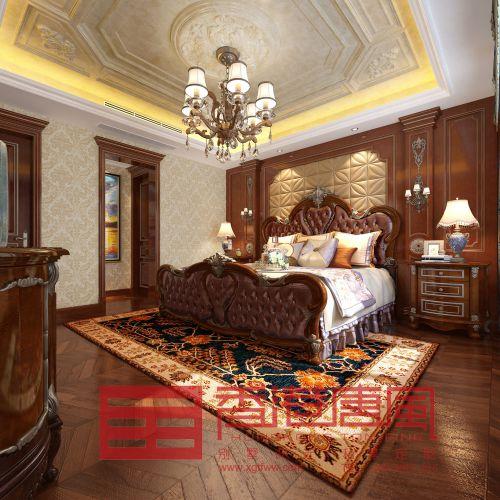 济南龙山希思庄园350平联排别墅欧式风格装修