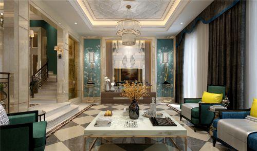 中海华山珑城别墅新古典风格装修效果图,现代轻奢