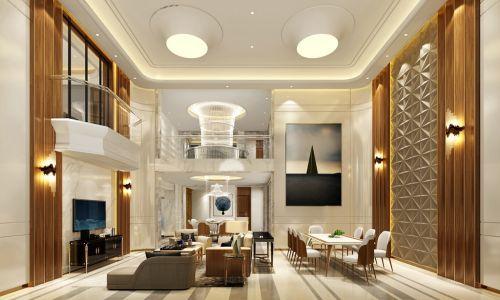 华侨城装修|天澜美墅800平别墅现代风格设计效果图