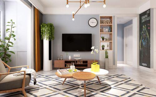 中建新悦城三室两厅北欧风格装修效果图,济南城市人家