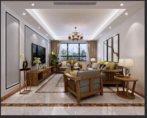 保利红叶谷130平现代风格设计案例