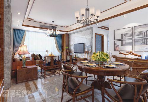 贵阳书香苑装修,四室两厅大宅设计您想要的新中式风范!