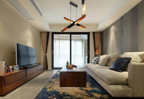 现代简约三室两厅设计。