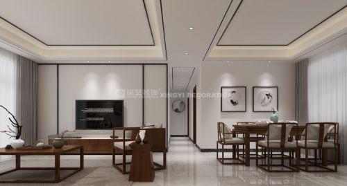 贵阳新中式装修设计,中铁逸都洋房135户型装修设计案例!
