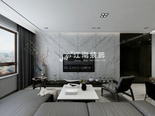 哈尔滨江南装饰保利城现代风格装修效果图