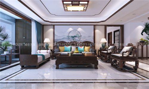 鼎秀家园180平中式风格装修方案