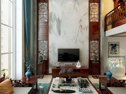 呼和浩特回民区香墅岭240平米的复式楼中式风格装修效果图