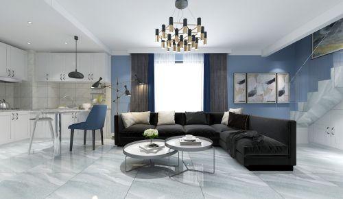 呼和浩特华美创客60平米复式装修设计的现代简约风格