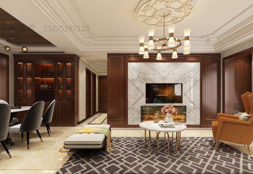 美式轻奢客餐厅卧室