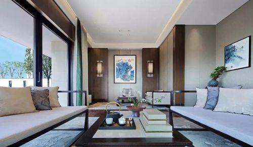 简约中式别墅装修设计效果图