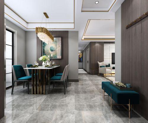 郑州建业花园里145平四居户型装修后现代风格