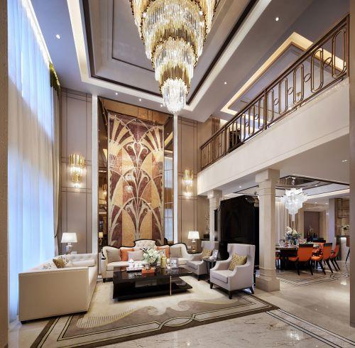 轻奢风时尚浪漫家居装修设计