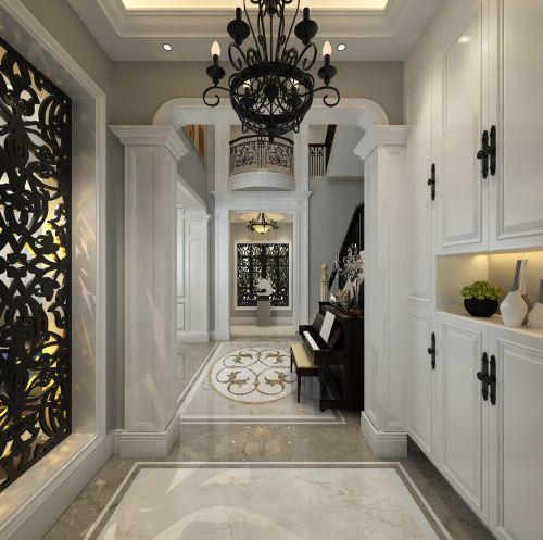 金沙湖高尔夫观邸600平别墅装修设计欧式奢华风