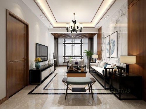 新中式客廳茶室臥室