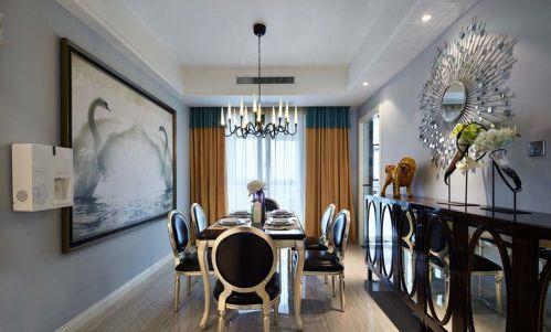 上海艺林秋涟苑美式风格148平米装修效果图案例