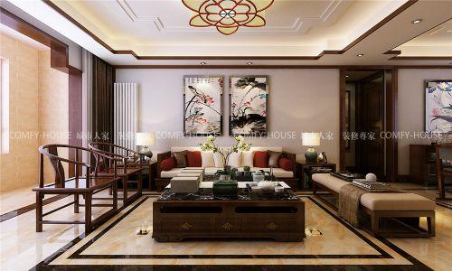 龙湖水晶郦城124平简中风格装修方案
