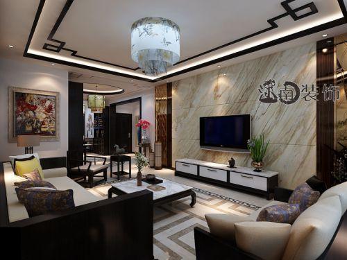 哈尔滨市江南装饰新中式风格效果图案例