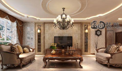 哈尔滨江南装饰美式风格效果图案例
