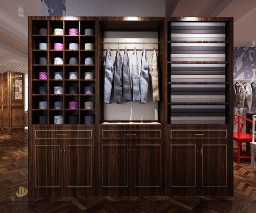 深圳服装商铺装修设计案例-<中式服装店>-广深艺建设