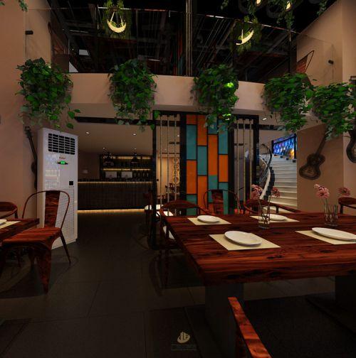 深圳餐厅餐饮装修设计案例-23号餐吧-广深艺建设