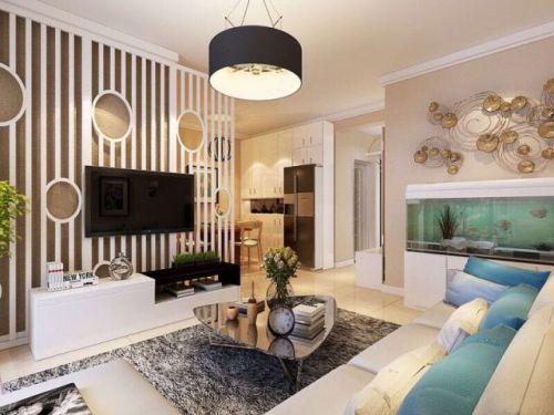 86㎡现代简约风格两居室案例,暖色调营造温馨之家