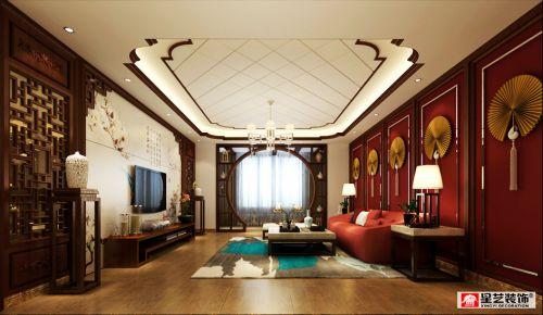 贵阳美的林城上洲洋房中式装修设计方案两套拿走!