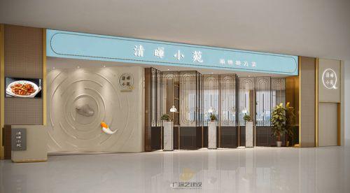 深圳餐饮装修设计案例-清晖小苑-广深艺建设