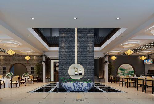 深圳餐厅装修设计-赣南印象(欢乐海岸店)-广深艺建设
