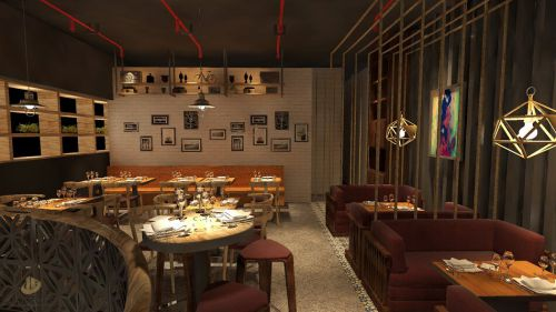 深圳餐厅装修设计-原味缘音乐烤吧-广深艺建设