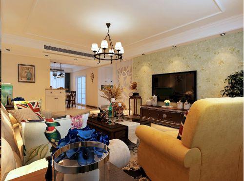济南城市之星百步亭小区138平方美式风格