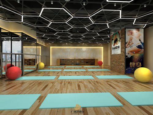 《精》深圳健身室装修设计-星域广场健身会所-广深艺建设