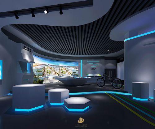 深圳展厅装修设计-创意银行展厅-广深艺建设