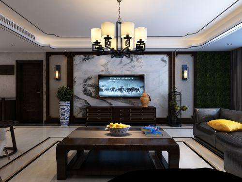 济南名悦山庄小区214平方新中式风格装修丨万泰装饰总部