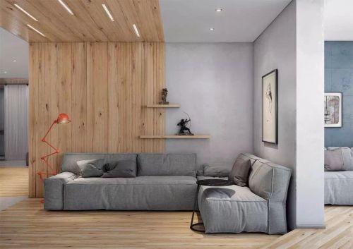 个性时尚独特的家庭客厅沙发摆设