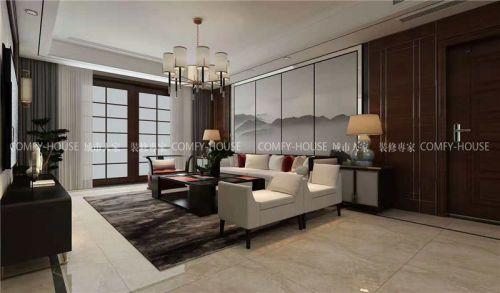 中新国际城210平新中式装修方案,生活可以很艺术