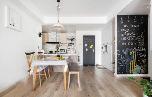 清新北欧风格的住宅空间。